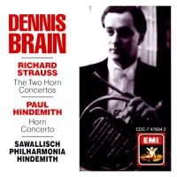STRAUSS, R. / HINDEMITH, P.: Horn Concertos (Brain)