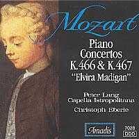 "莫扎特:第二十和第二十一钢琴协奏曲,""艾薇拉·玛蒂根"" MOZART: Piano Concertos Nos. 20 and 21,"
