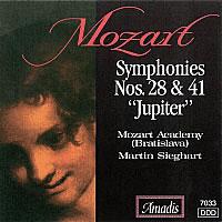 """莫扎特:第二十八和第四十一交响曲,""""朱庇特"""" MOZART: Symphonies Nos. 28 and 41"""